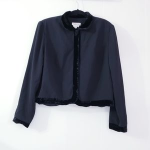 Vintage Talbots Black Bolero Blazer Size 14